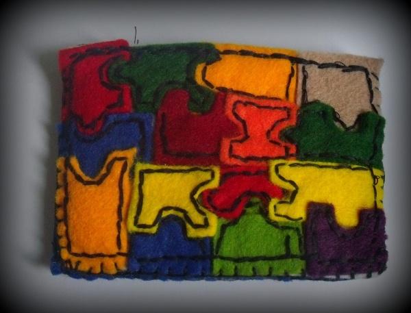 puzzle wallaet felt