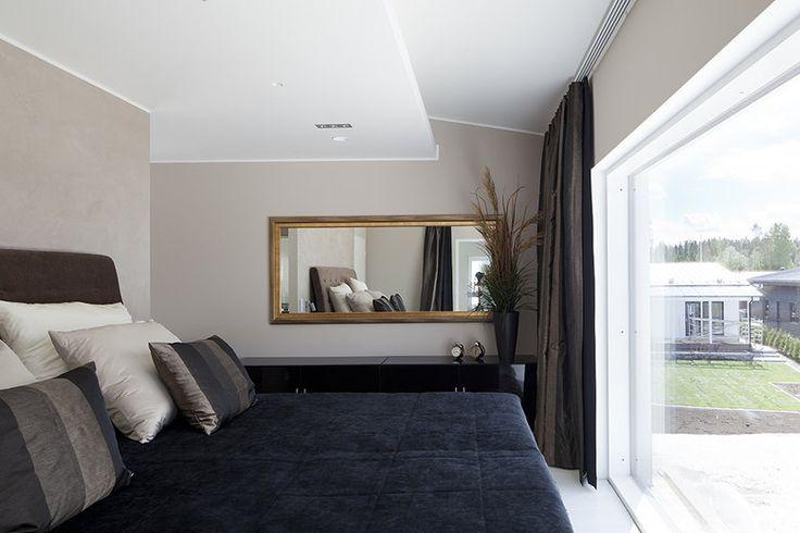 Arjen luxusta Villa Ilon makuuhuoneessa, lisää ideoita www.lammi-kivitalot.fi