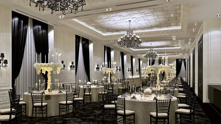 Toronto: Its black and white. Events here are the very definition of elegance.