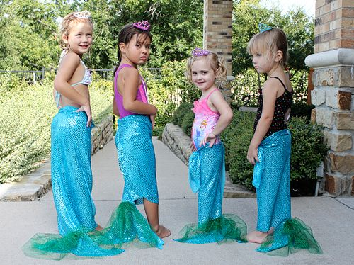 No Sew mermaid tails!! the link is to host a Mermaid theme birthday party and how to pull it off.