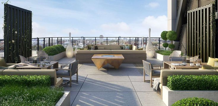 Chic contemporary luxury roof terrace st james merano for Interior design rooftop terrace