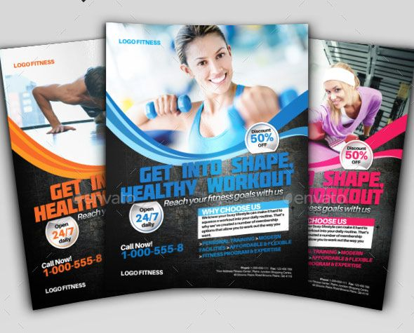 38 best Flyer Designs images on Pinterest Fitness flyer, Flyer - fitness brochure template