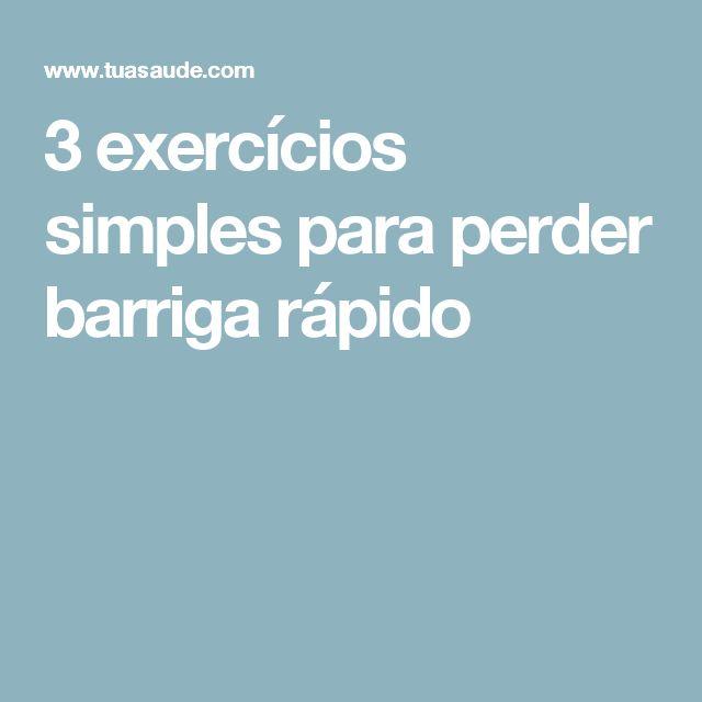 3 exercícios simples para perder barriga rápido