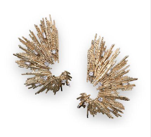 Starburst diamond earrings by Grima