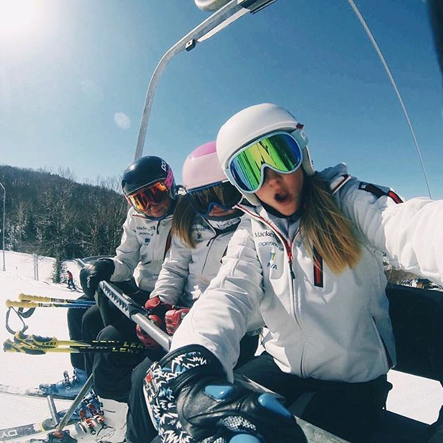 Just some galz learning how to ski #firsttimeontheslopes