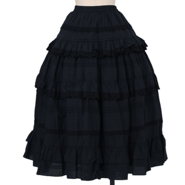 Surfacespell .. * ° +. .. * ° +. Angelica & Obsidian pin tuck Long under skirt https://www.wunderwelt.jp/en/fleur/products/s-00099  ☆ Official online retailer ☆ Wunderwelt Fleur ☆