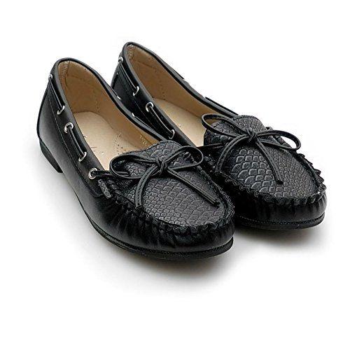 Kayla shoes Damen Ballerinas Mokassin Schuhe F128-10 Blac... https:/