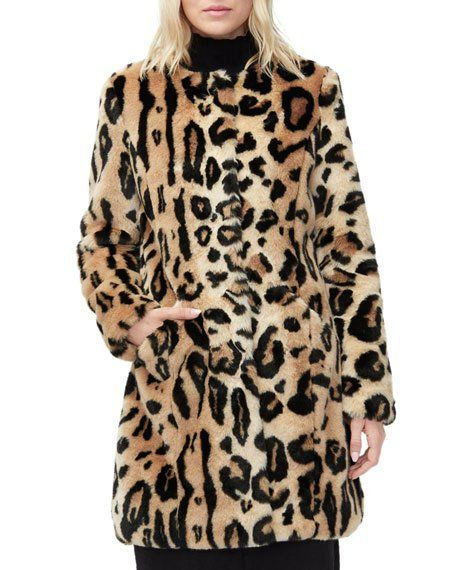 f82c362e2539 UGG Lisabeth Leopard Faux Fur Coat in 2019 | Eye-catching Outfits ...