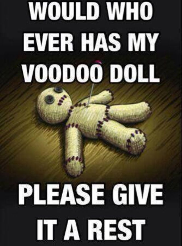 Would whoever has my voodoo doll give it a rest? #fibromyalgia #CRPS #chronic pain