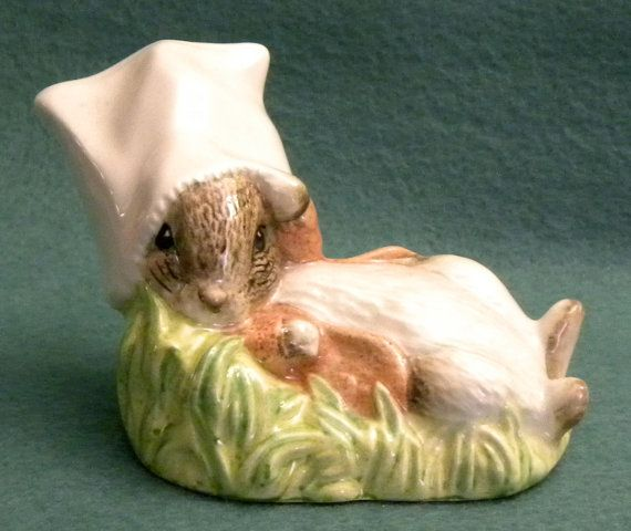 Benjamin Wakes Up Beatrix Potter Figurine by Royal by AuntMartha, $48.00