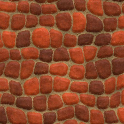 Red Wall Texture Cartoon Style