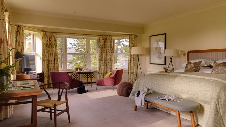 Sheen Falls Lodge, bedrooms and suites |   Durable furniture solutions, furniture design, modern contract furniture, UK | #contractsolutions #hospitalitydesign #furniture #UK | More: https://www.brabbucontract.com/projects