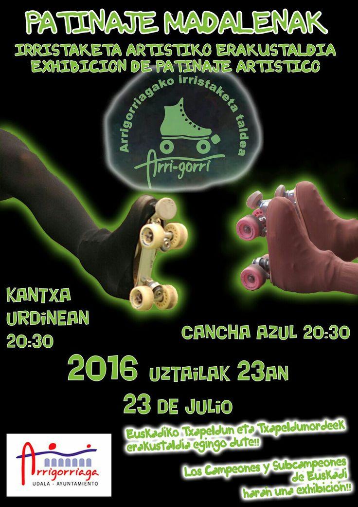 Exhibición Patinaje artístico en Arrigorriaga por Arri Gorri Taldea durante las fiestas de Mafalenak 2016