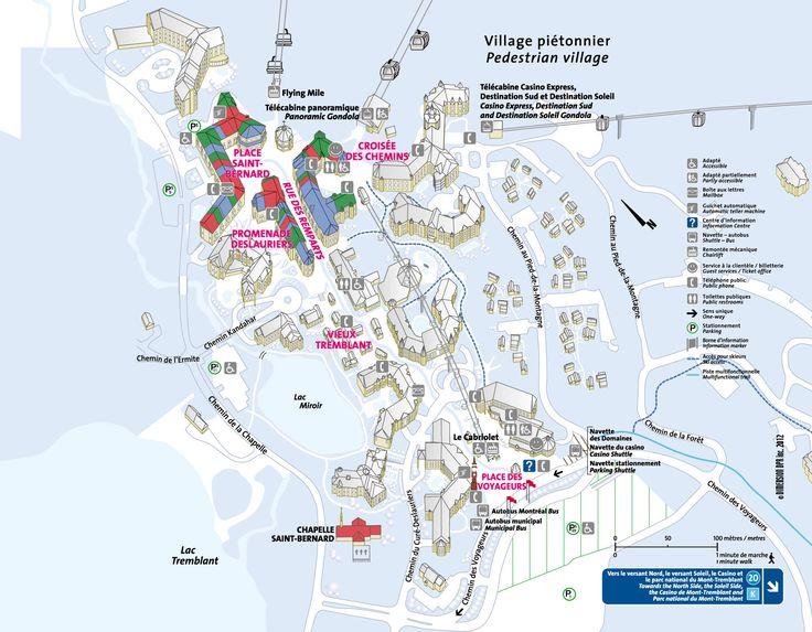 Carte du village piétonnier - Station Mont Tremblant