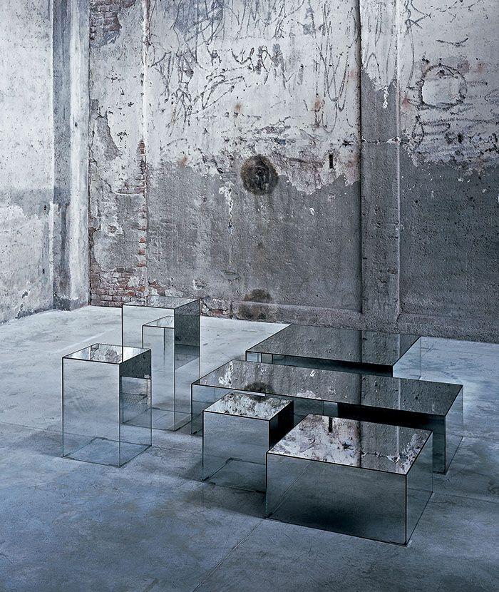 Table Basse Illusion Glas Italia En 2020 Table Basse Table Basse Miroir Meubles En Verre