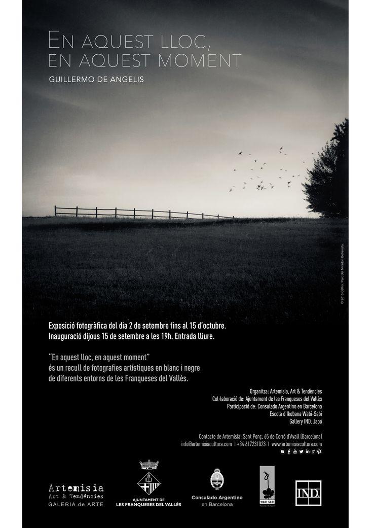 """""""En aquest lloc, en aquest moment"""" Fotografias en b/n del artista Guillermo De Angelis."""