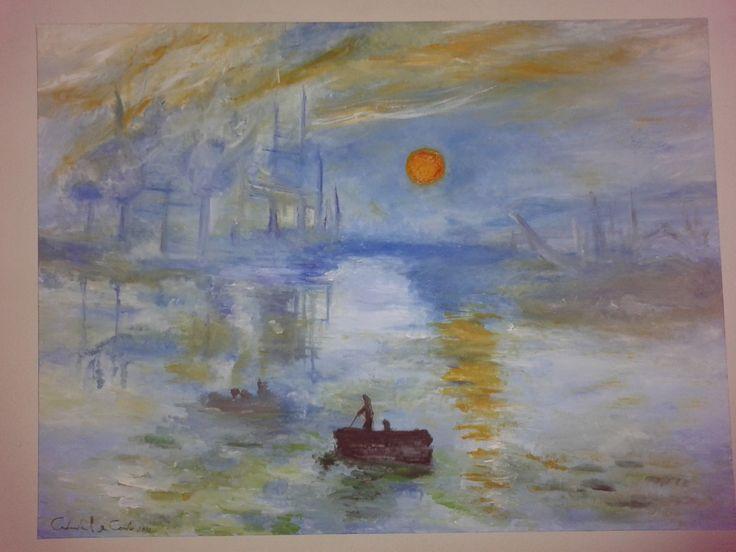 """""""Impressione sole nascente di Monet"""" olio su tela... scopri la mia arte su http://www.arch-garden.it/la-mia-arte.html"""