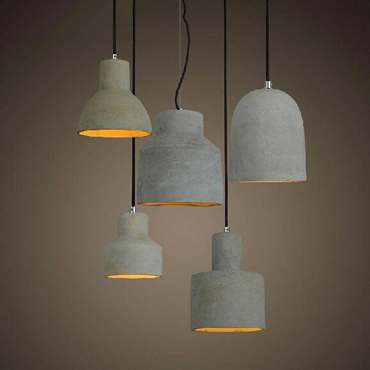 New Design Nordic Minimalist Retro Ceramic Pendant Light E27 L& Base Industrial Loft Hanging Concrete Pendant & 25+ unique Cheap light bulbs ideas on Pinterest | Cheap electric ... azcodes.com
