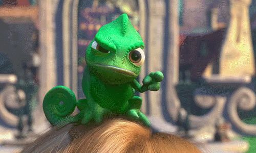 tangled pascal gifs | Pascal encourage Raiponce à quitter sa tour solitaire.