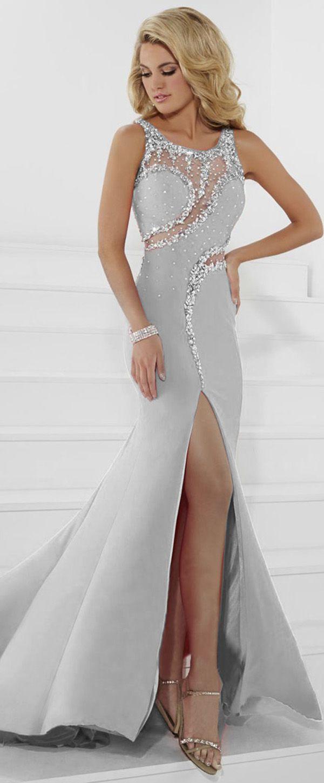Charming Stretch Satin Scoop Neckline Mermaid Prom Dress