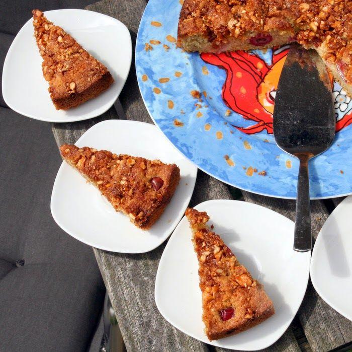 Eten maken: Kruisbessentaart met cashew-krokant