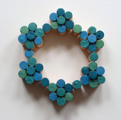 Design Fixation: Easy DIY Painted Cork Wreath