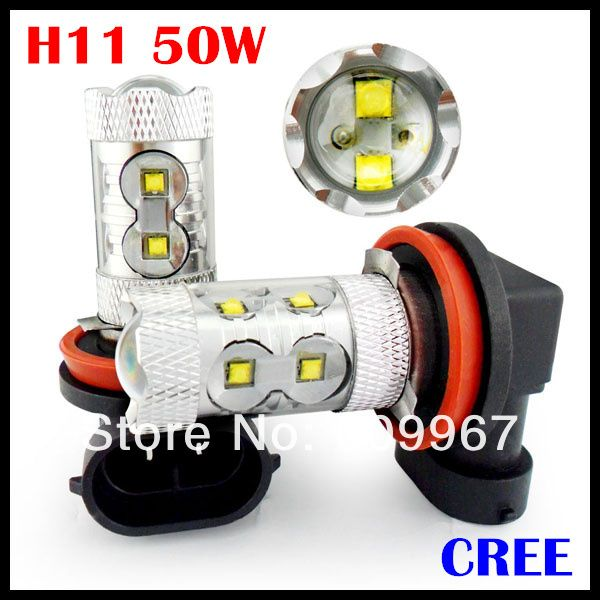 10pcs/lot super brightness 50W cree chips  High Power,H4 H7 H11 led fog bulb,high power H4 H7 H11 led,H4 H7 H11 car led