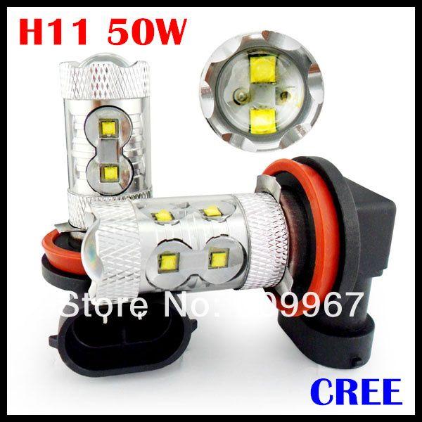 10pcs/lot super brightness 50W cree chips  High Power,H4 H7 H11 led fog bulb,high power H4 H7 H11 led,H4 H7 H11 car led