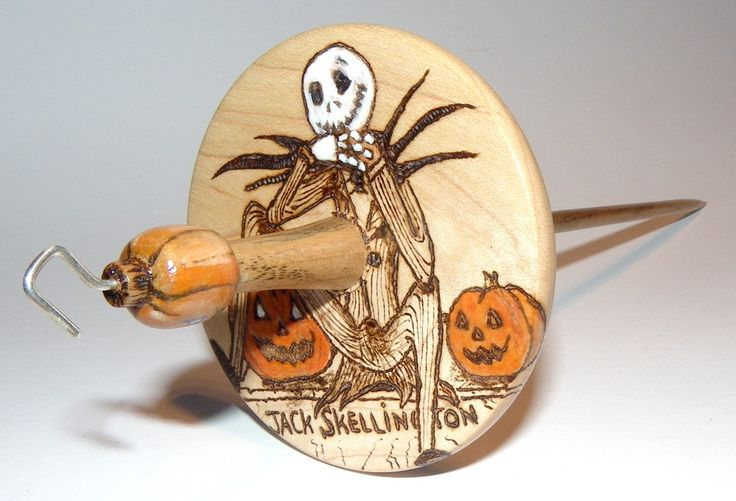 Jack Skellington Drop Spindle custom order March 2016