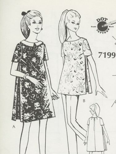 Dot Pattern System Deluxe: Maternity Dress and Top