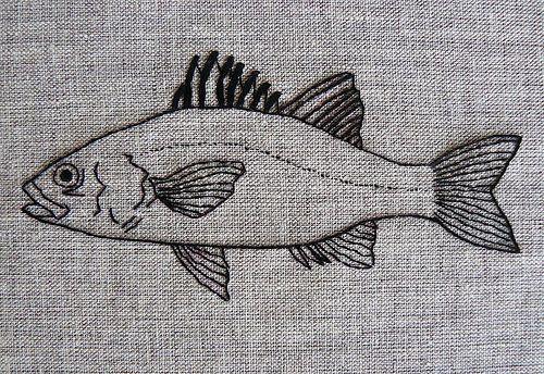 ✽     australian bass   -  blackwork embroidery  -  flickr