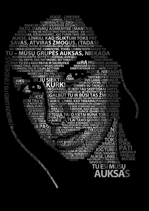 Typography Portrait Dark Lady by erezija on DeviantArt