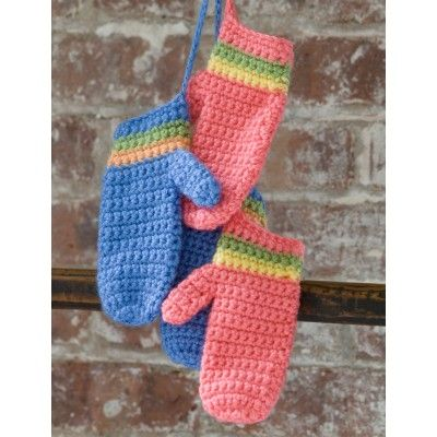 Craft Passions: Striped Mittens# Free #  crochet pattern link here...