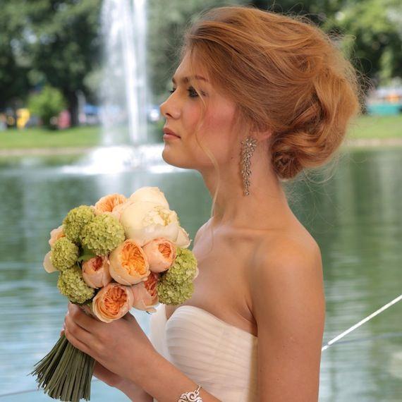 Свадебная прическа и свадебный макияж