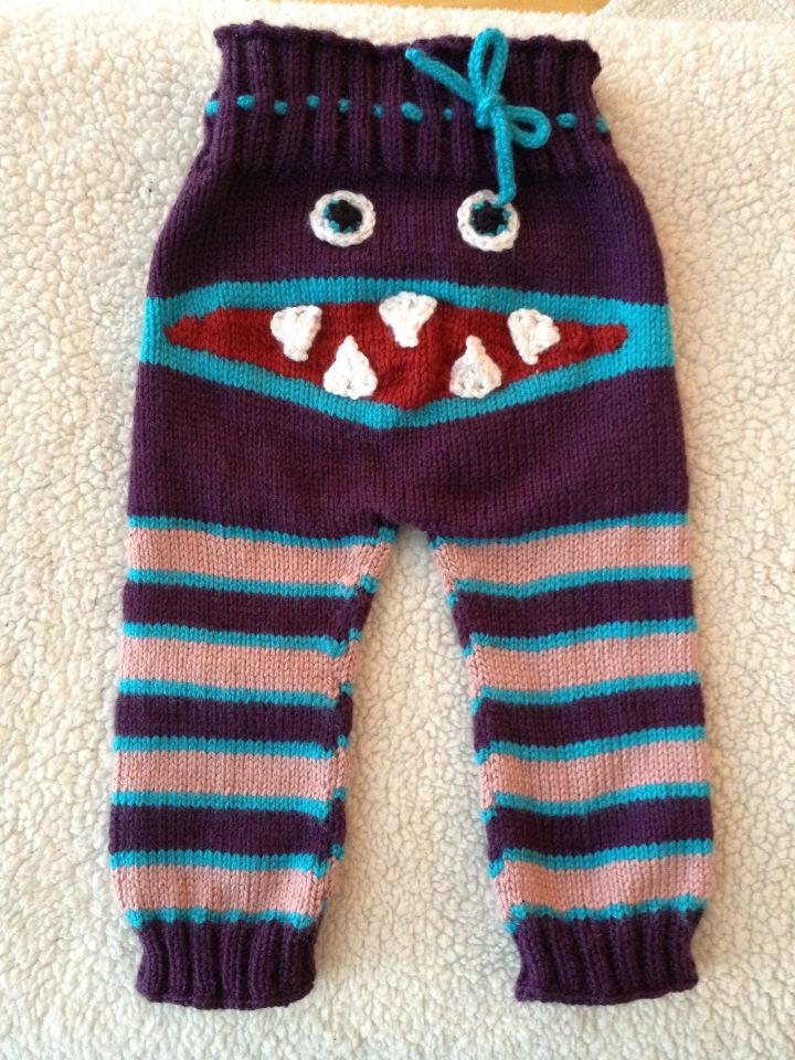Pantalons monstre pour ma nièce