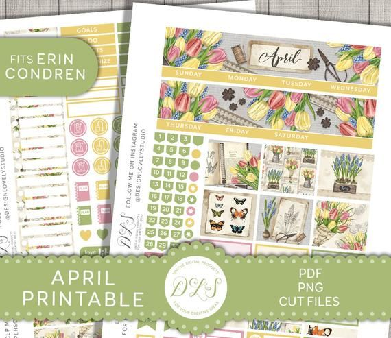 Vertical April Weekly Monthly kit fits EC Hourly and Vertical
