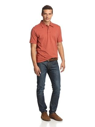 Alex Cannon Men's Heathered Cotton Solid Polo Knit