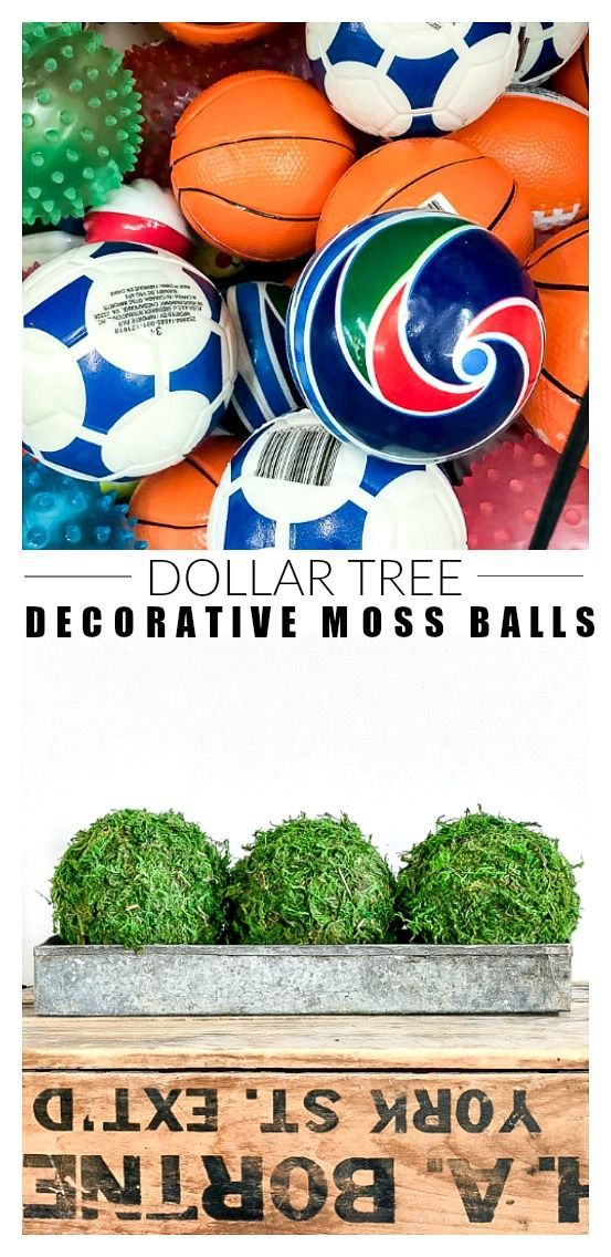 Dollar Store Diy How To Make Decorative Moss Balls Dollar Store