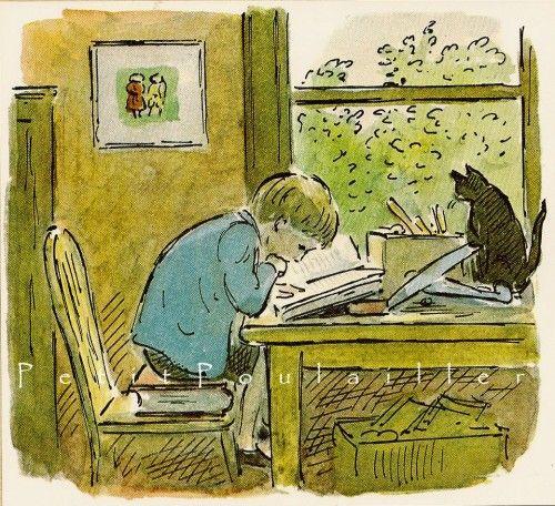boy and cat,  Edward Ardizzone