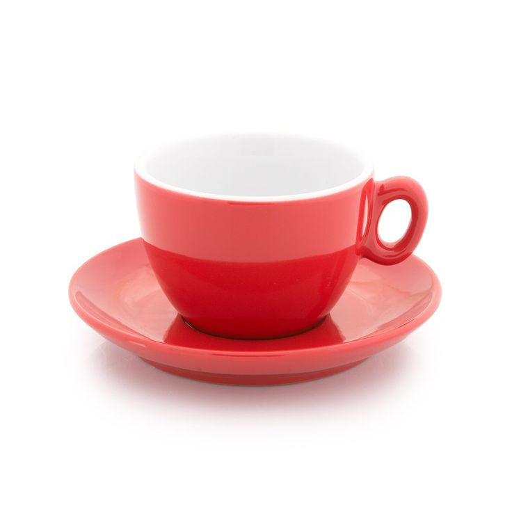 Inker red cappuccino cup 6 oz demitasse