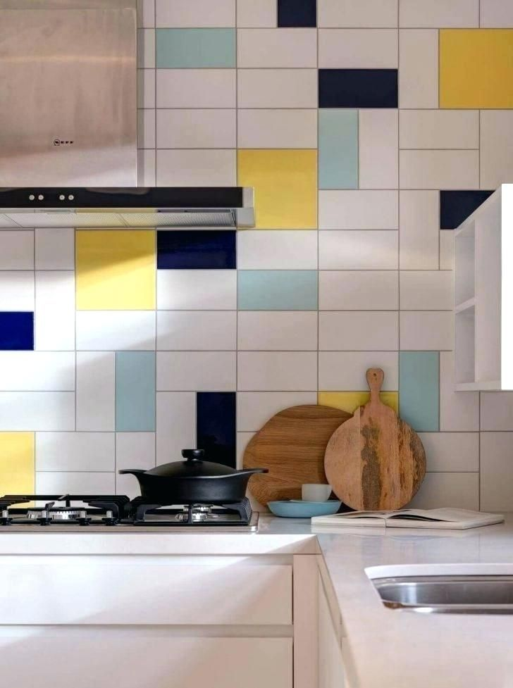 Navy Blue Tile Kitchen Appliances Small White Ceramic Grey Glass