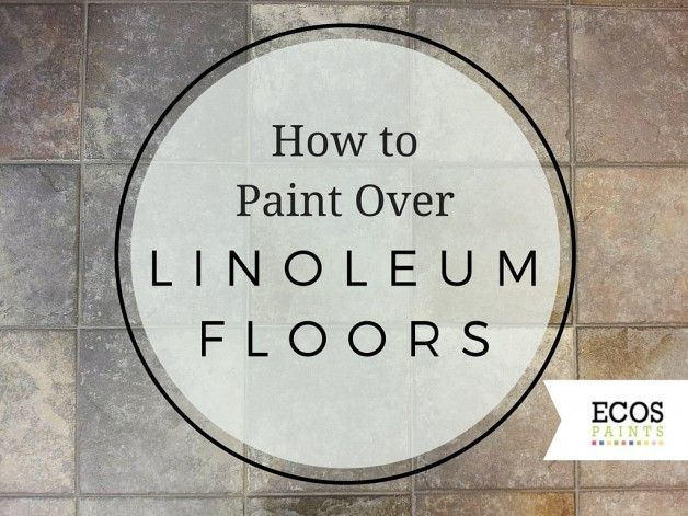 Do you have linoleum floors in your house that you want to get rid of, but don't have the budget for a new floor? You can paint over them! Here's how.