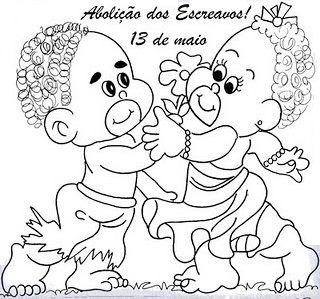 Desenhos, para pintar, Lei Áurea, Dia da Abolição, Escravatura, 13/05, escravos, isabel, colorir