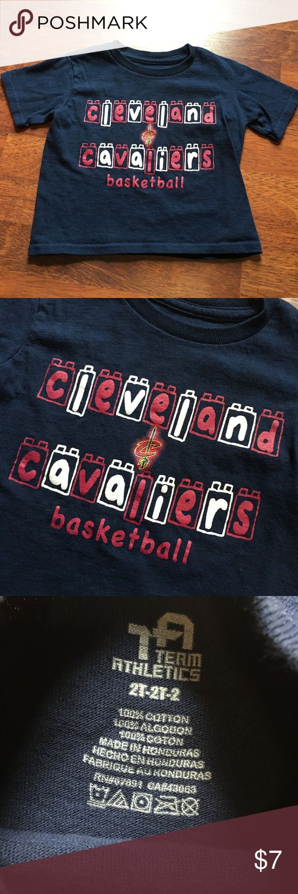 Team Athletics Cleveland Cavaliers T-Shirt Blocks Excellent used condition Cleveland Cavaliers t-shirt. Small bit of fuzziness. Sized 2T. 100% cotton. Team Athletics Shirts & Tops Tees - Short Sleeve