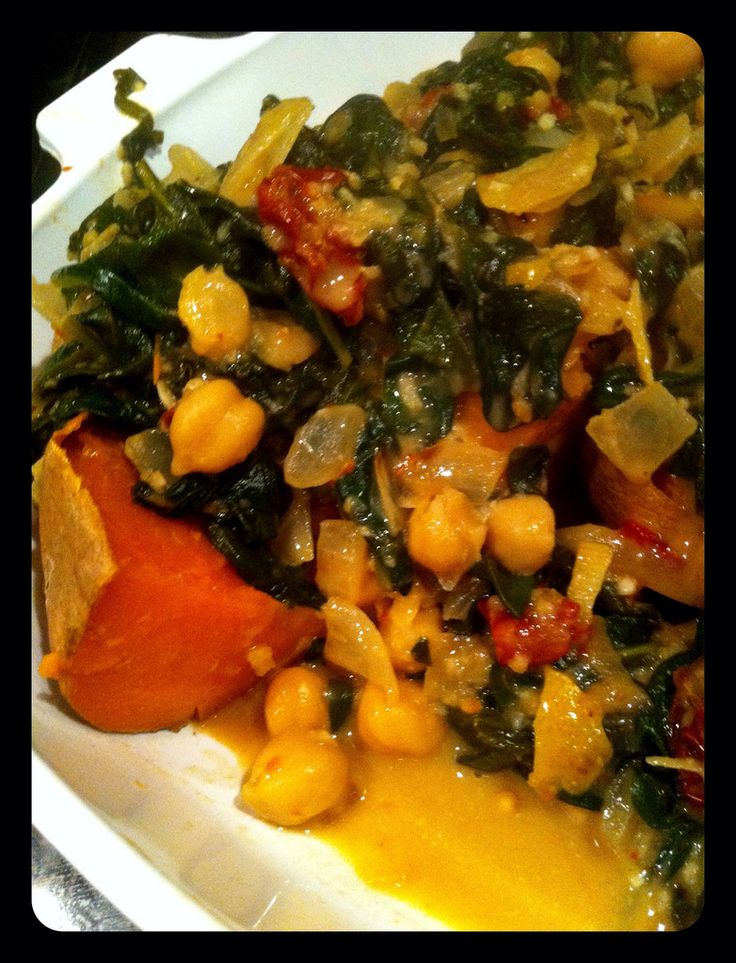 braised coconut spinach and chickpeas with lemon and sun-dried ...