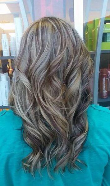 Added chocolate brown lowlights to my summer blonde hair ...