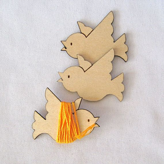Peeps the Bird Embroidery Floss Holder Set by gigglesnortsociety