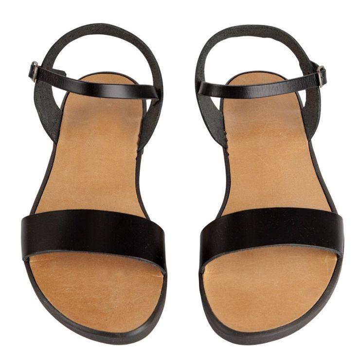 zwarte griekse sandalen