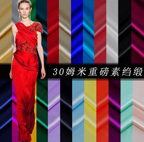 30 m/m 100 % Mulberry Silk Gewebe reine Farbe Seide von AnnyFabrics