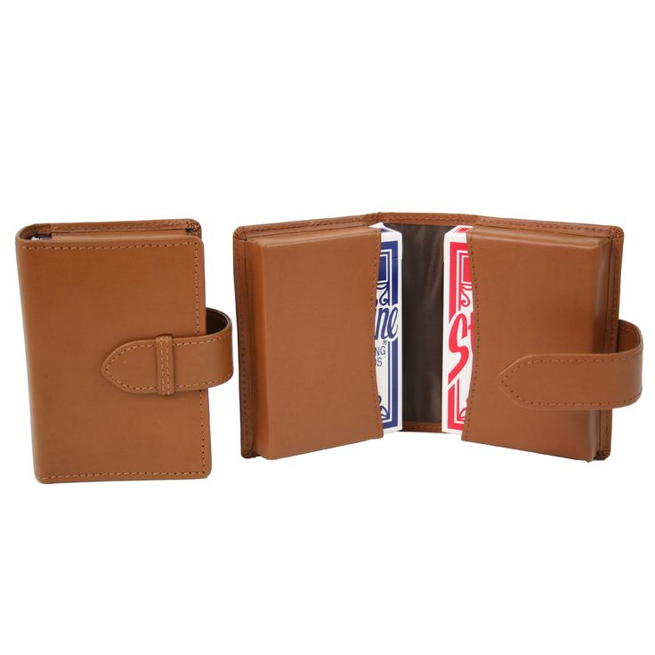 Royce Genuine Bonded Double Playing Card Deck Case